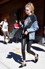 GIGI HADID Out and About in New York 09/14/2016