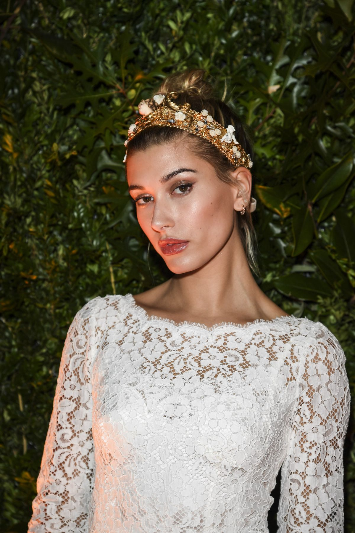 HAILEY BALDWIN at Dolce & Gabbana Boutique Opening in Milan 09/25/2016