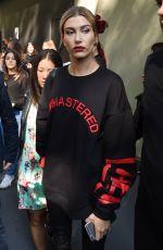 HAILEY BALDWIN Leaves Dolce & Gabbana Fashion Show at Milan Fashion Week 09/25/2016