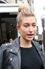 HAILEY BALDWIN leaves L