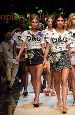 HAILEY BALDWIN on the Runway at Dolce & Gabbana Spring/Summer 2017 Fashion Show in Milan 09/25/2016