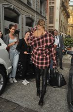 HAILEY BALDWIN Out Shopping in Milan 09/23/2016