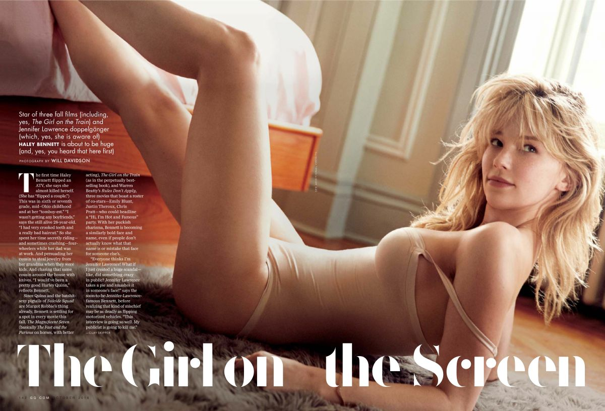 HALEY BENNETT in GQ Magazine, October 2016