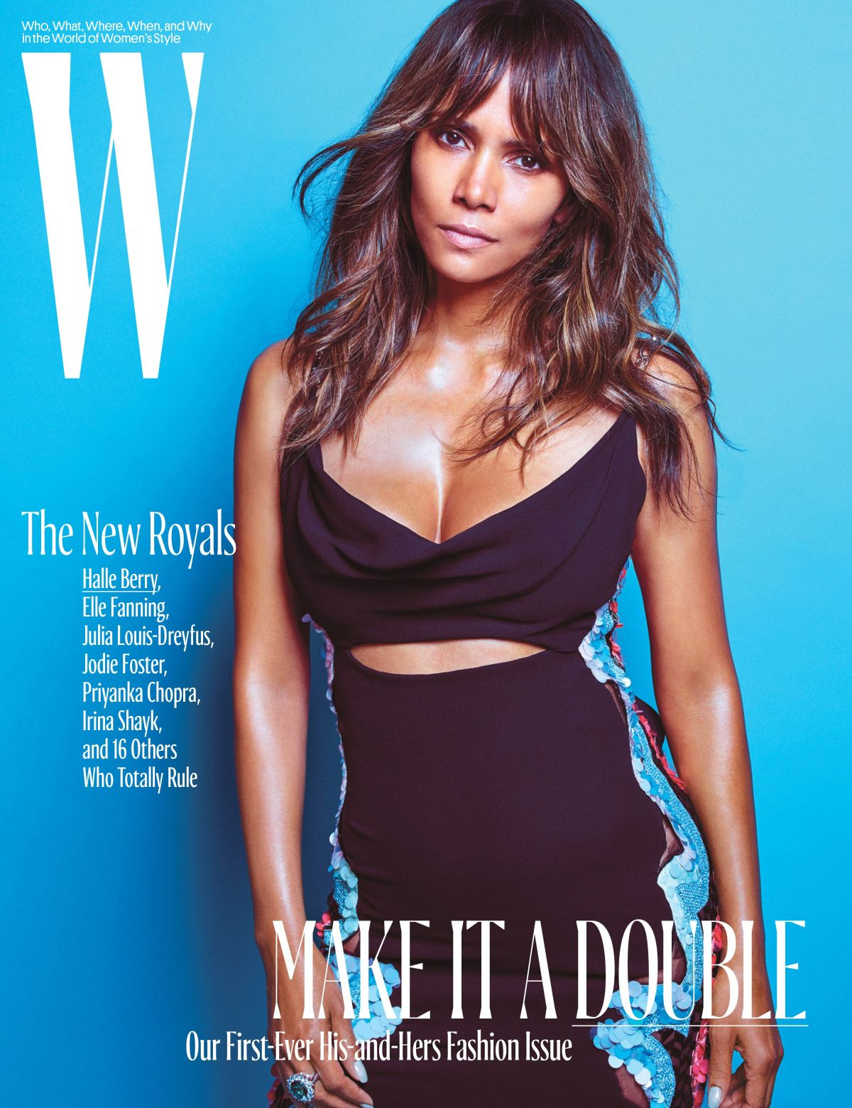 HALLE BERRY on the Cover of W Magazine, October 2016