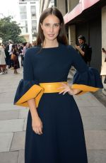 HEIDA REED Arrives at Roksanda fashion Show at London Fashion Week 09/19/2016