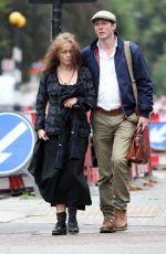 HELENA BONHAM CARTER Out in Hampstead 09/04/2016