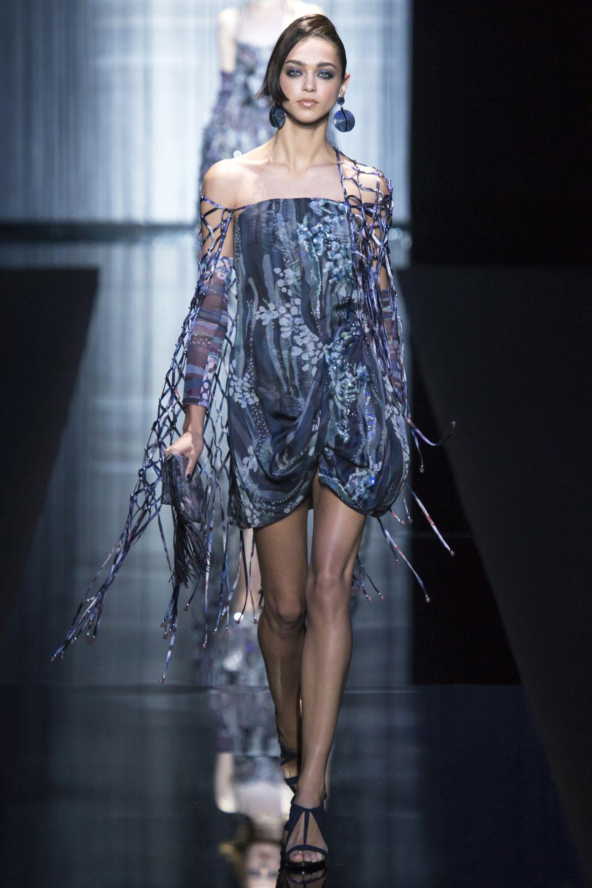 ZENYA KATAVA at Giorgio Armani Spring/Summer 2017 Fashion Show at Milan Fashion Week