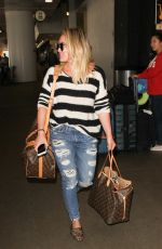 HILARY DUFF at LAX Airport in Los Angeles 09/29/2016