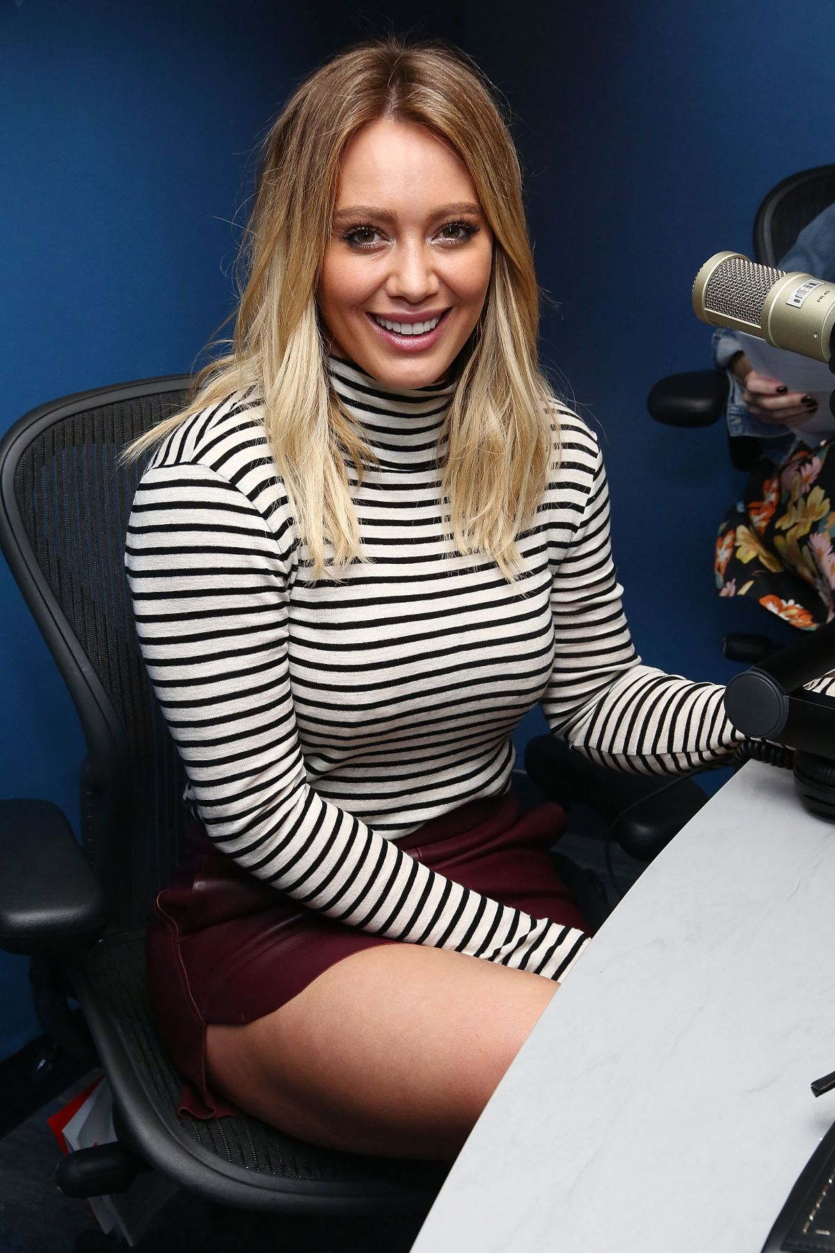 HILARY DUFF at SiriusXM Studios in New York 09/27/2016 ... Hilary Duff