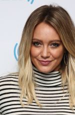 HILARY DUFF at SiriusXM Studios in New York 09/27/2016