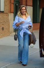 HILARY DUFF in Jeans Out and About in New York 09/26/2016
