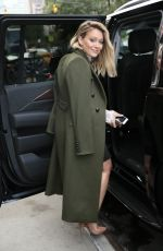 HILARY DUFF Leaves Tribeca Hotel in New York 09/28/2016