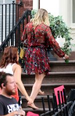 HILARY DUFF on the Set of