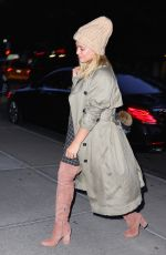 HILARY DUFF Out and About in New York 09/25/2016