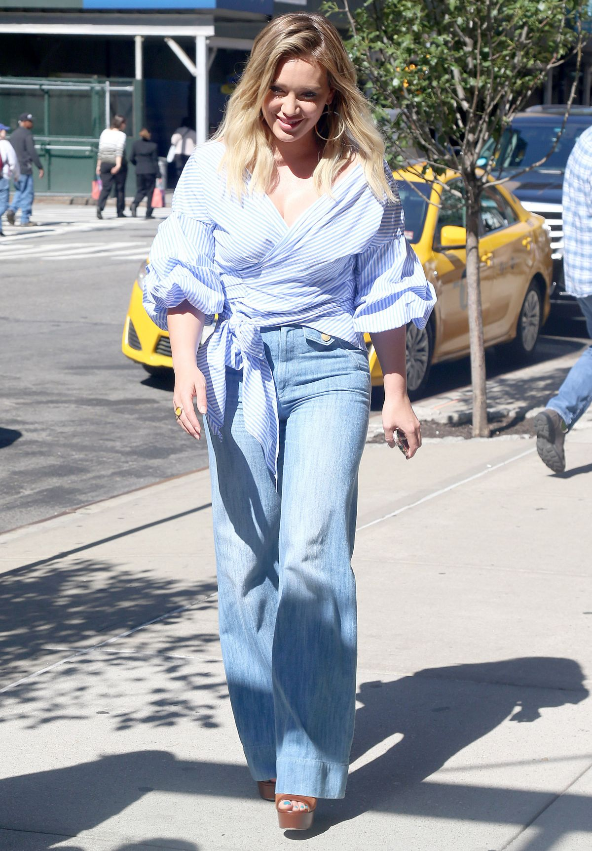 HILARY DUFF Out in New York 09/26/2016