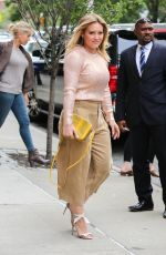 HILARY DUFF Out in New York 09/28/2016