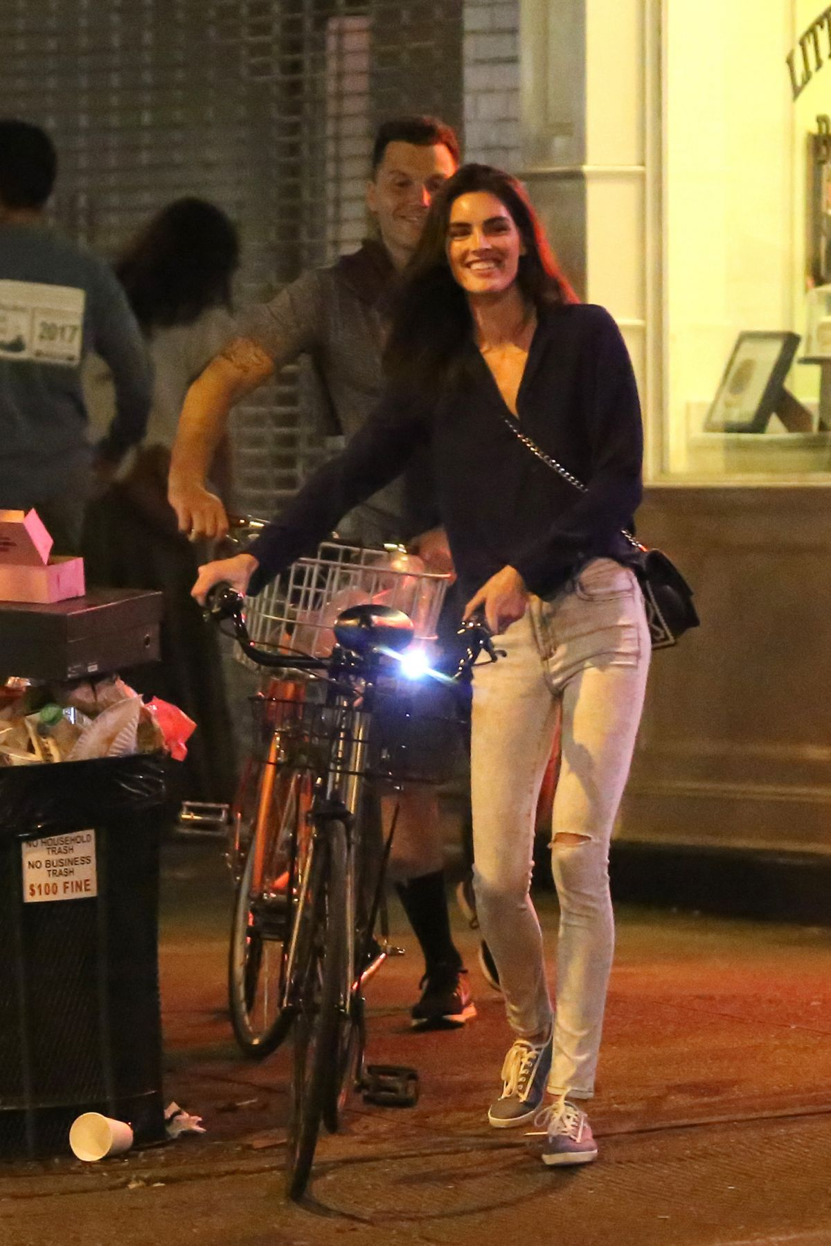 HILARY RHODA Riding a Bike Out in New York 09/04/2016