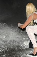 HOLLY RICKWOOD Getting Flour-Bombed Leaving a Pub in West London 09/01/2016