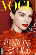 KENDALL JENNER in Vogue Magazine, Spain October 2016 Issue