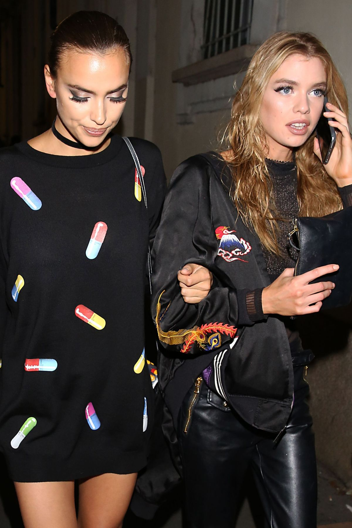 IRINA SHAYK and STELLA MAXWELL Out and About in Milan 09/22/2016