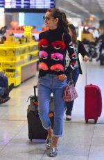 IZABEL GOULART at Galeao International Airport in Rio De Janeiro 08/20/2016