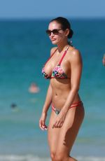 JACLYN SWEDBERG in Bikini at a Beach in Miami 09/03/2016