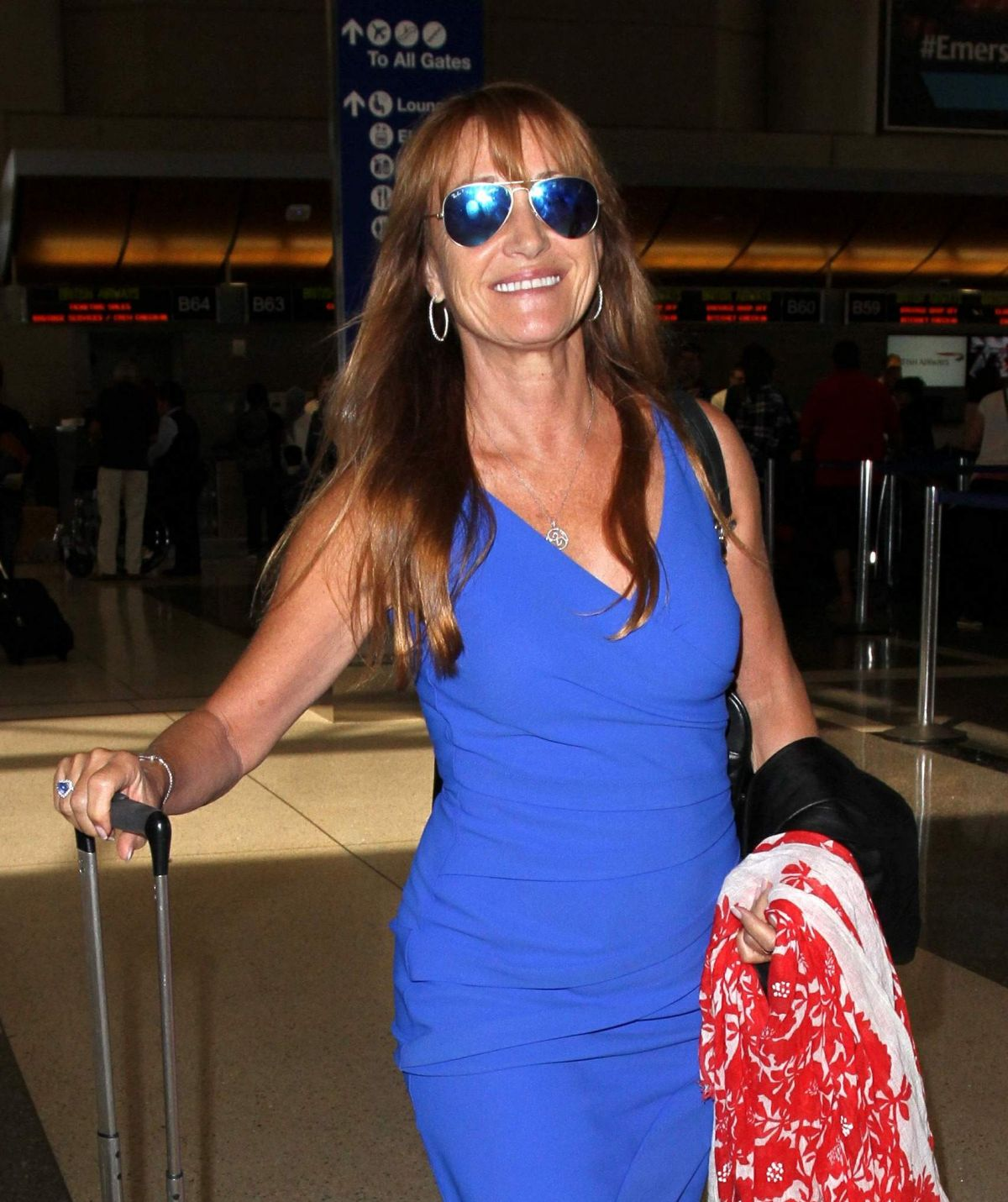 JANE SEYMOUR at LAX Airport in Los Angeles 09/13/2016