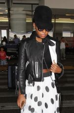 JANELLE MONAE at LAX Airport in Los Angeles 08/29/2016