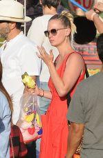 JANUARY JONES Out Shopping in Malibu 09/04/2016