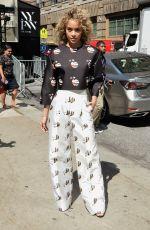JASMINE SANDERS Arrives at Naeem Khan Fashion Show in New York 09/14/2016