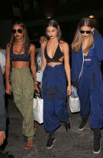 JASMINE TOOKES, TAYLOR HILL and JOSEPHINE SKRIVER Night Out in New York 09/12/2016