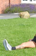 JEMMA LUCY Working Out at a Park in Manchaster 09/01/2016