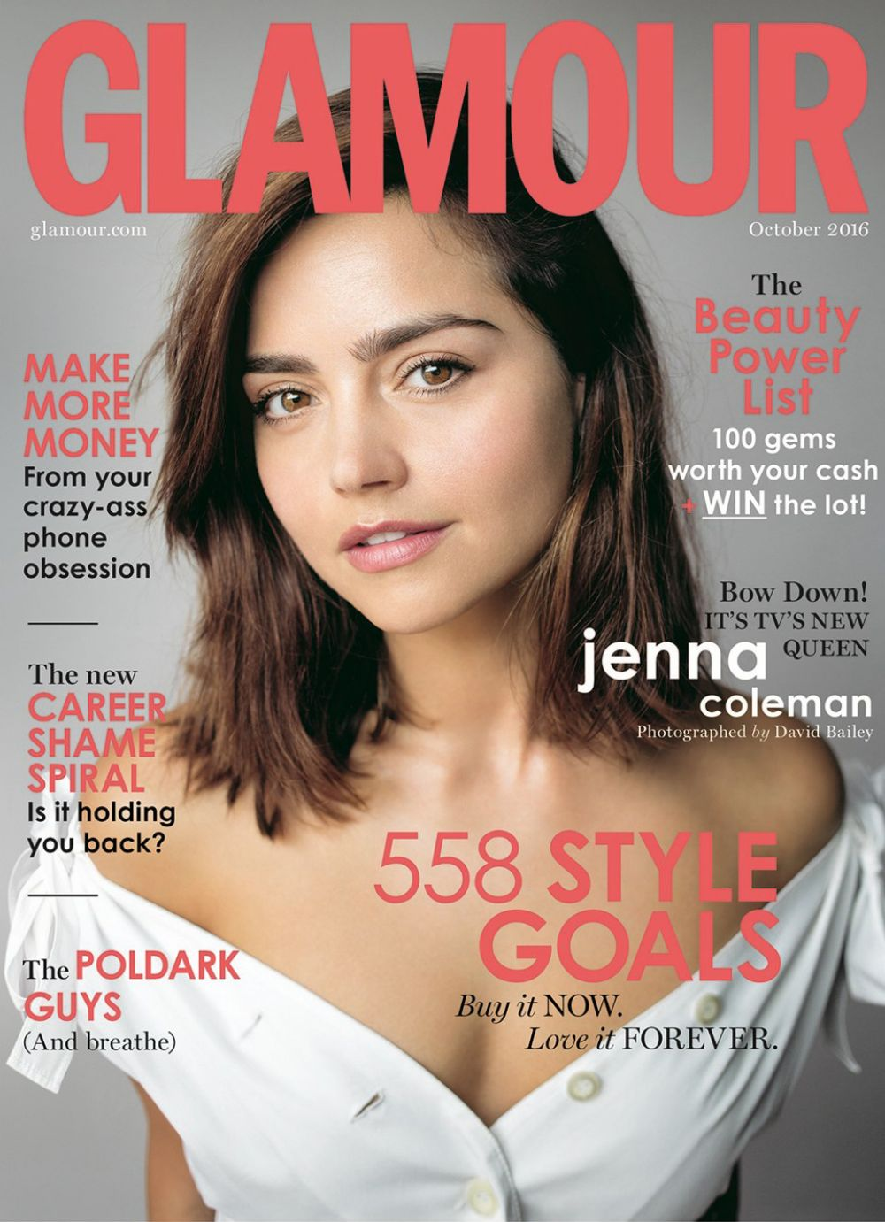 JENNA LOUISE COLMEAN in Glamour Magazine, October 2016 Issue