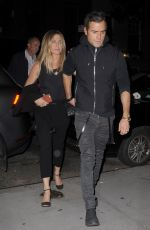 JENNIFER ANISTON and Justin Theroux Night Out in New York 09/24/2016