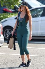 JENNIFER METCALFE in Tight Bodysuit Out in Liverpool 09/15/2016