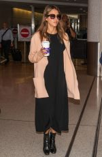 JESSICA ALBA at Los Angeles International Airport 08/31/2016