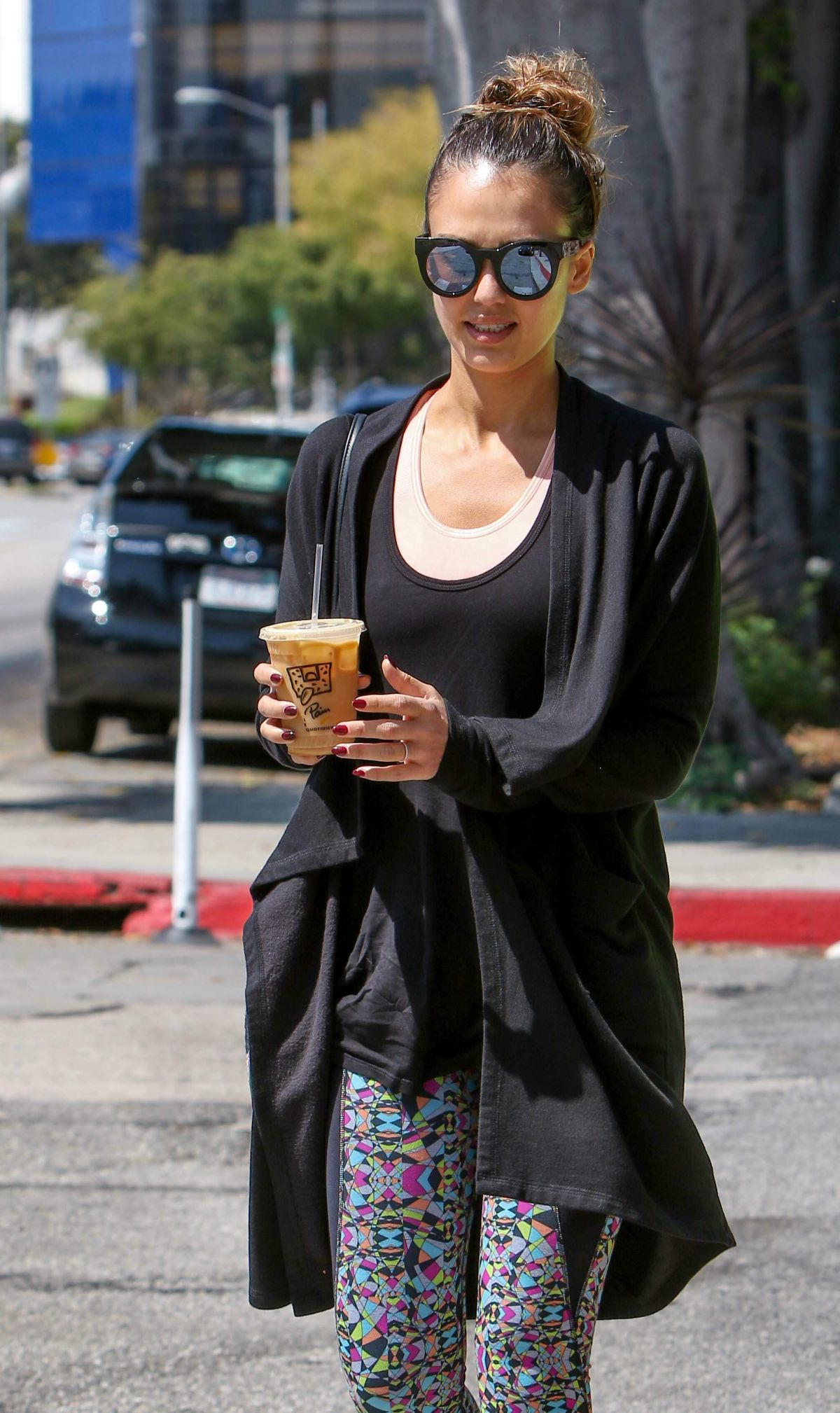 JESSICA ALBA Out for Lunch in West Hollywood 09/03/2016