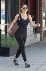 JESSICA BIEL in Tights Leaves Pilates Class in Studio City 09/08/2016