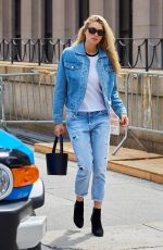 JESSICA HART in Jeans Out in New York 09/11/2016