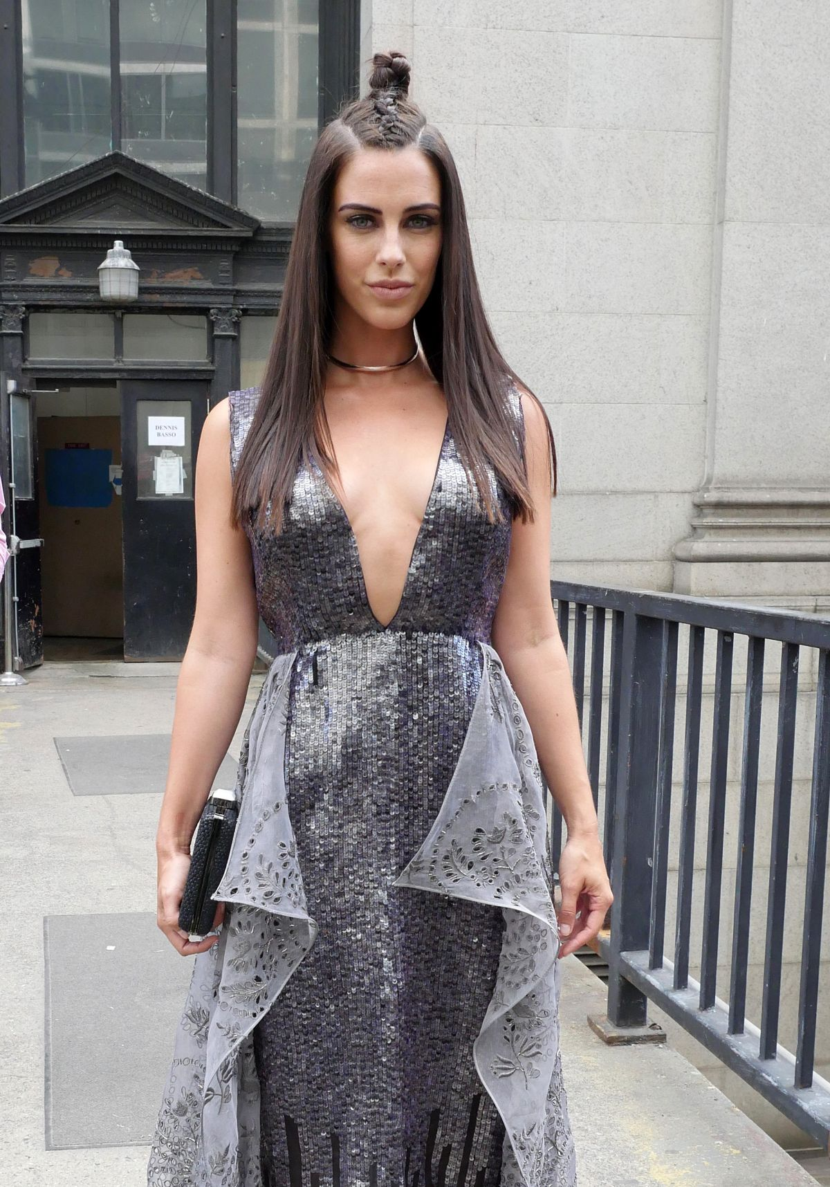 JESSICA LOWNDES at Dennis Basso Fashion Show at New York Fashion Week 09/13/2016