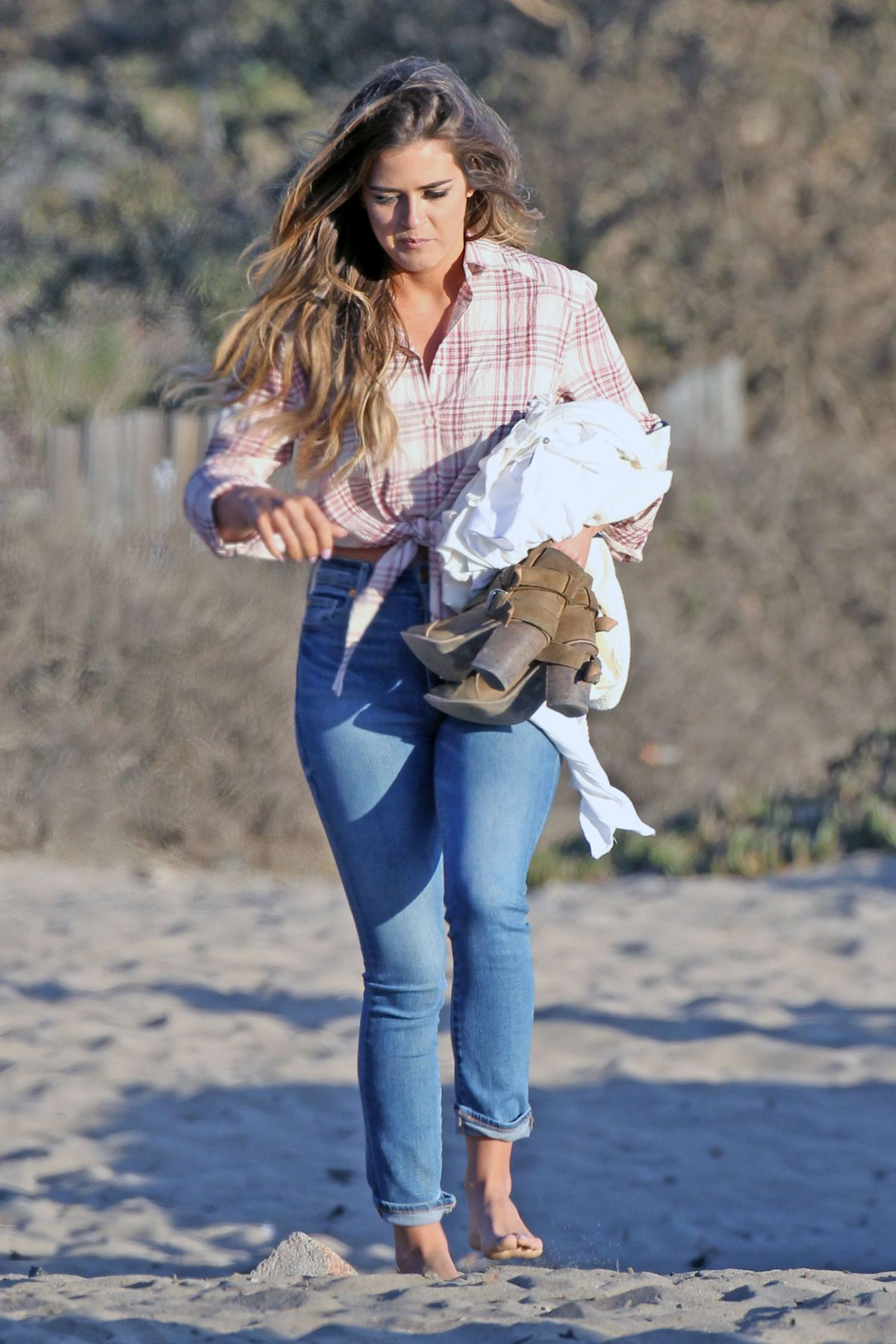 JOJO FLETCHER on the Beach in Malibu 09/11/2016