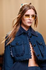 JOSEPHINE SKRIVER on the Runway at Fendi Fashion Show in Milan 09/22/2016