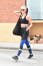 JULIANNE HOUGH Leaves a Gym in Los Angeles 09/03/2016