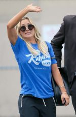 KALEY CUOCO at Jimmy Kimmel Live in Hollywood 09/12/2016