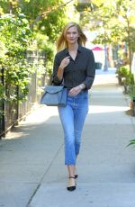 KARLIE KLOSS in Jeans Out in New York 09/13/2016