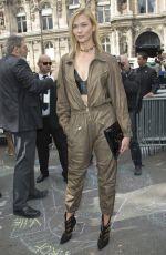 KARLIE KLOSS Leaves Lanvin Spring/Summer 2017 Fashion Show at Paris Fashion Week 09/28/2016