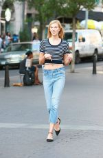 KARLIE KLOSS on the Set of a Photoshoot at Union Square in New York 09/13/2016