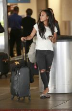 KARREUCHE TRAN at Los Angeles International Airport 09/06/2016