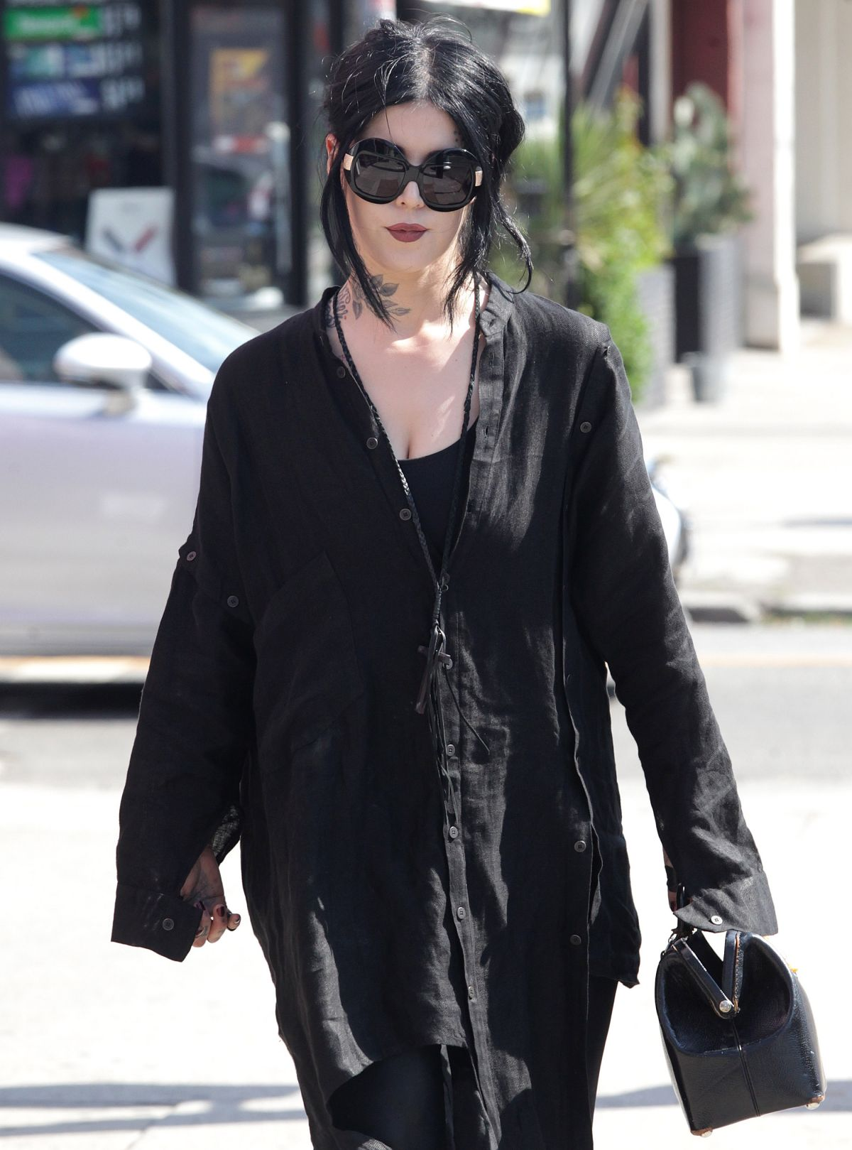 KAT VON D Out and About in Los Angeles 08/26/2016