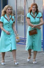 KATE WINSLET and JUNO TEMPLE on the Set of Woody Allen